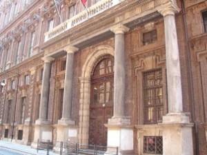 Ingresso della Galleria Sabauda e del Museo Egizio