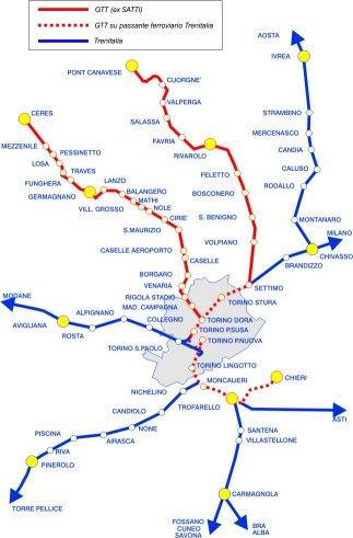 Mappa ferrovie
