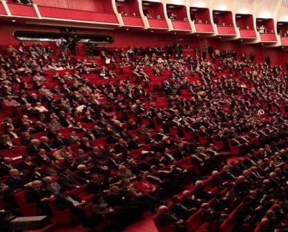 La platea del Teatro regio di Torino.